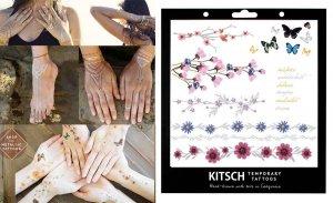 フラッシュタトゥー/Kitsch(キッチュ)タトゥーシール/テンポラリータトゥー/フラワーバタフライ/Flower Metallic Tattoo Set 2<img class='new_mark_img2' src='https://img.shop-pro.jp/img/new/icons16.gif' style='border:none;display:inline;margin:0px;padding:0px;width:auto;' />