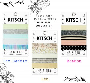 Kitsch(キッチュ)ヘアゴム/ヘアアクセサリー5本セット/ブレスレット/Hair Ties/Bonbon/Ice Castle/Zen<img class='new_mark_img2' src='//img.shop-pro.jp/img/new/icons16.gif' style='border:none;display:inline;margin:0px;padding:0px;width:auto;' />