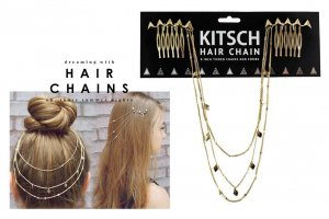 Kitsch(キッチュ)スタッズヘアチェーン/ヘアアクセサリー/Triangle Hair Chain/ゴールド<img class='new_mark_img2' src='https://img.shop-pro.jp/img/new/icons16.gif' style='border:none;display:inline;margin:0px;padding:0px;width:auto;' />