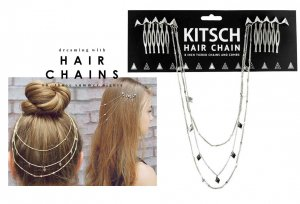 Kitsch(キッチュ)スタッズヘアチェーン/ヘアアクセサリー/Triangle Hair Chain/シルバー<img class='new_mark_img2' src='https://img.shop-pro.jp/img/new/icons16.gif' style='border:none;display:inline;margin:0px;padding:0px;width:auto;' />