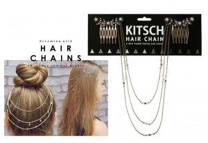 Kitsch(キッチュ)フラワーパールヘアチェーン/ヘアアクセサリー/Pearl Hair Chain/アンティークゴールド<img class='new_mark_img2' src='//img.shop-pro.jp/img/new/icons16.gif' style='border:none;display:inline;margin:0px;padding:0px;width:auto;' />