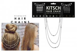 Kitsch(キッチュ)フラワーパールヘアチェーン/ヘアアクセサリー/Pearl Hair Chain/アンティークシルバー<img class='new_mark_img2' src='//img.shop-pro.jp/img/new/icons16.gif' style='border:none;display:inline;margin:0px;padding:0px;width:auto;' />