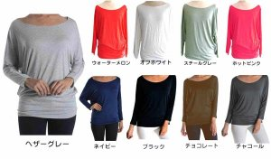 Lani(ラニ)ロングTシャツ/オフショルダー長袖カットソー/レディーストップス<img class='new_mark_img2' src='//img.shop-pro.jp/img/new/icons16.gif' style='border:none;display:inline;margin:0px;padding:0px;width:auto;' />