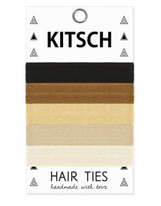 Kitsch(キッチュ)Basics ベーシックカラーヘアアクセサリー5本セット/ヘアゴム/ブレスレット/Hair Ties<img class='new_mark_img2' src='https://img.shop-pro.jp/img/new/icons16.gif' style='border:none;display:inline;margin:0px;padding:0px;width:auto;' />