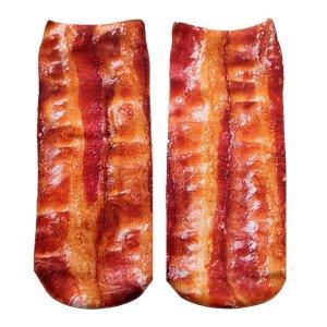 リビングロイヤル(Living Royal)レディース靴下ベーコン柄/Bacon/くるぶしソックス/アンクルソックス<img class='new_mark_img2' src='https://img.shop-pro.jp/img/new/icons16.gif' style='border:none;display:inline;margin:0px;padding:0px;width:auto;' />