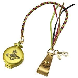 ヴィヴィアンウエストウッド(Vivienne Westwood)ラインストーン付きゴールド携帯灰皿(オーブ)