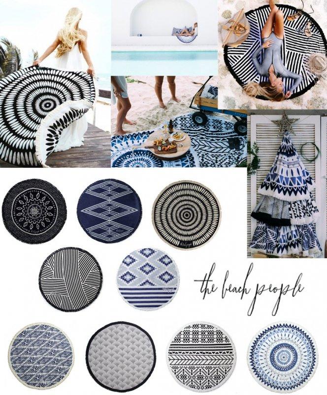 The Beach People(ザ ビーチ ピープル)ラウンドタオル/円形タオル/マット