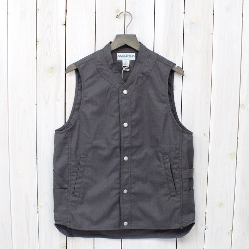 SASSAFRAS『VASE WALL GARDENER VEST』(HEATHER GRAY)
