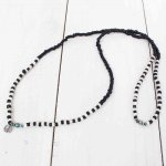 SunKu『Antique Black & White Beads Long Necklace-SK087』