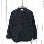 FWK by ENGINEERED GARMENTS『Banded Collar Shirt -Polka Dot Flannel』(Black)