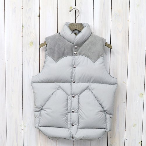 Rocky Mountain Featherbed『Down Vest』(GRAY/SUEDE GRAY)
