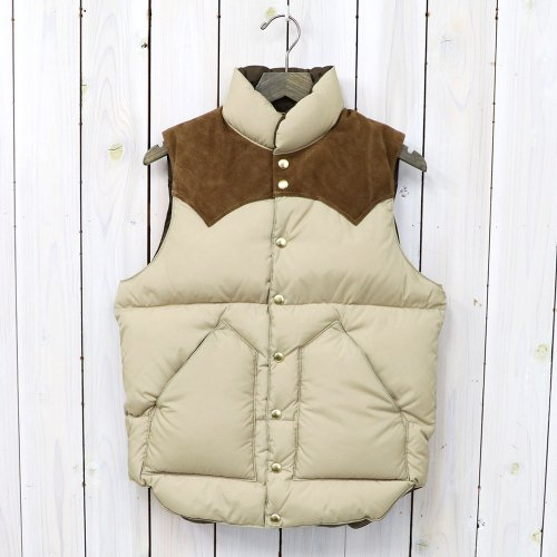 Rocky Mountain Featherbed『Down Vest』(TAN/SUEDE KHAKI)