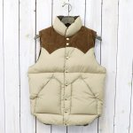 【SALE特価40%off】Rocky Mountain Featherbed『Down Vest』(TAN/SUEDE KHAKI)