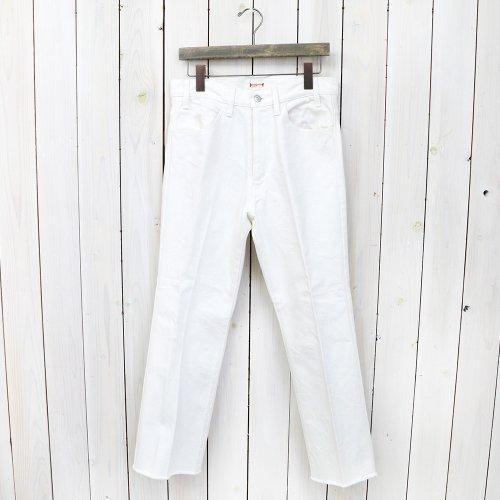 【SALE特価30%off】Kaptain Sunshine『Cutoff Semi Flare Denim Pants』(White Denim)