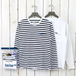 FRUIT OF THE LOOM×BLUE BLUE『2PK BORDER LS T』(B)