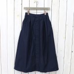 FWK by ENGINEERED GARMENTS『Tuck Skirt-Cotton Reversed Sateen』(Dk.Navy)
