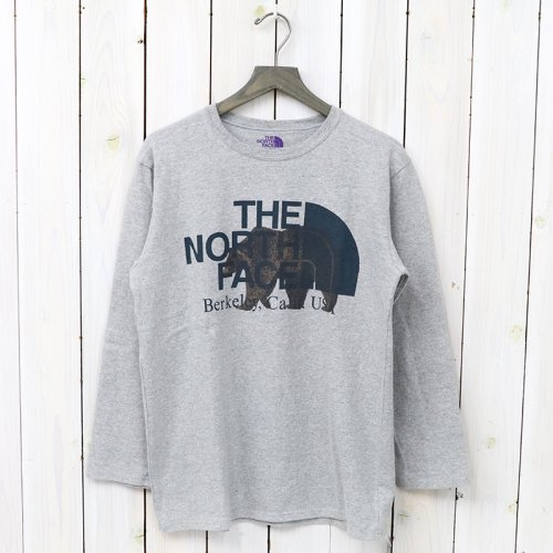 THE NORTH FACE PURPLE LABEL『COOLMAX®  L/S Graphic Tee』(Mix Gray)