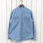THE NORTH FACE PURPLE LABEL『COOLMAX®  Stand Collar Denim Shirt』(Indigo Bleach)