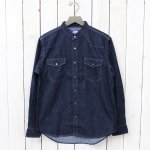 THE NORTH FACE PURPLE LABEL『COOLMAX®  Stand Collar Denim Shirt』(Indigo)