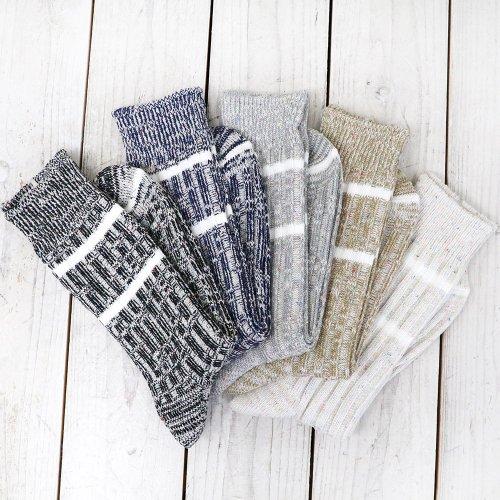 【SALE特価40%off】hobo『Mixed Color Rib Socks』