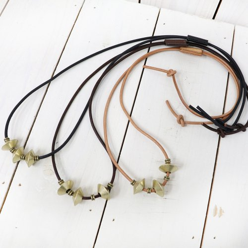 【SALE特価30%off】hobo『Brass Diamond Beads Necklace』