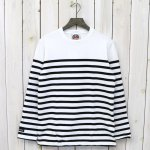 BARBARIAN『CREW NECK LONG SLEEVE-BASQUE STRIPES』(WHITE×BLACK)