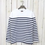 BARBARIAN『CREW NECK LONG SLEEVE-BASQUE STRIPES』(WHITE×NAVY)