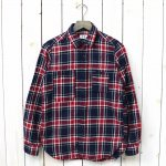 【会員様限定SALE】FWK by ENGINEERED GARMENTS『Work Shirt-Plaid Flannel』(Navy/Red Big)