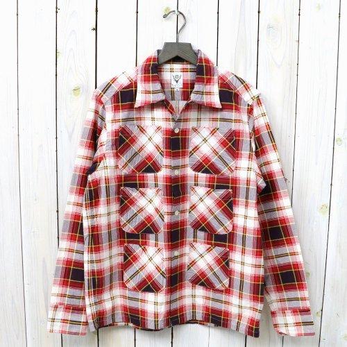 【会員様限定SALE】SOUTH2 WEST8『Flannel 6 Pockets Classic Shirt』(White/Red)