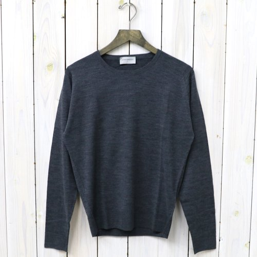 【SALE特価50%off】JOHN SMEDLEY『A3835(長袖クルーネック)』(CHARCOAL)