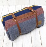 PENDLETON『Camp Blankets with Leather Carrier』(Lake)