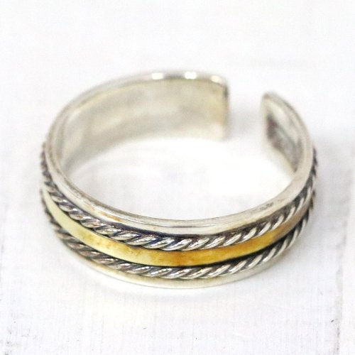 hobo『Silver925 Wire Ring with Brass Plate』
