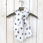 ENGINEERED GARMENTS『Long Scarf-Cross Print Gauze』(Navy)