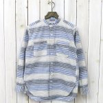 ENGINEERED GARMENTS『Banded Collar Shirt-CL Horizontal St.』(Lt.Blue/Natural)