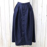 FWK by ENGINEERED GARMENTS『Tuck Skirt-Polka Dot Lawn』(Navy)