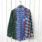 Rebuild by Needles『7Cuts Flannel Shirt』(White)