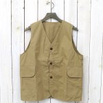 HINSON『WEATHER CLOTH REVERSIBLE VEST』(KHAKI)