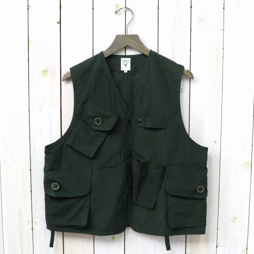 【会員様限定SALE】SOUTH2 WEST8『Tenkara Vest-Wax Coating』(Green)