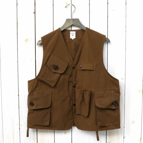 【会員様限定SALE】SOUTH2 WEST8『Tenkara Vest-Wax Coating』(Brown)