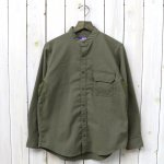 THE NORTH FACE PURPLE LABEL『Polyester Twill Stand Collar Shirt』(Khaki)