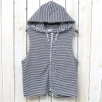 ENGINEERED GARMENTS『Knit Hoody Vest-St.Jersey』(Navy/White)