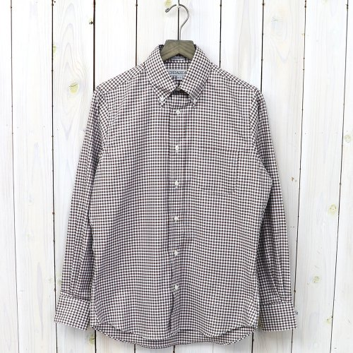 【SALE特価50%off】INDIVIDUALIZED SHIRTS『PINPPOINT OXFORD GINGHAM』(BROWN)