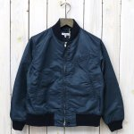 ENGINEERED GARMENTS『Aviator Jacket-Flight Sateen』(Navy)