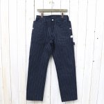 SASSAFRAS『FALL LEAF GARDENER PANTS(HERRINGBONE STRIPE)』(NAVY)