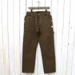 SASSAFRAS『FALL LEAF GARDENER PANTS(HERRINGBONE STRIPE)』(BROWN)