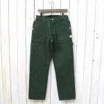SASSAFRAS『FALL LEAF GARDENER PANTS(HERRINGBONE STRIPE)』(OLIVE)
