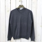JOHN SMEDLEY『S3796-PULLOVER VN LS』(CHARCOAL)