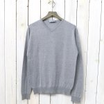 【SALE特価50%off】JOHN SMEDLEY『S3796-PULLOVER VN LS』(SILVER)