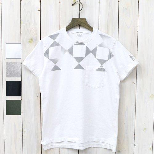 ENGINEERED GARMENTS『Printed Cross Crew Neck T-shirt-Diamond』
