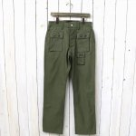 SASSAFRAS『G.D.U. PANTS(BACK SATIN)』(OLIVE)